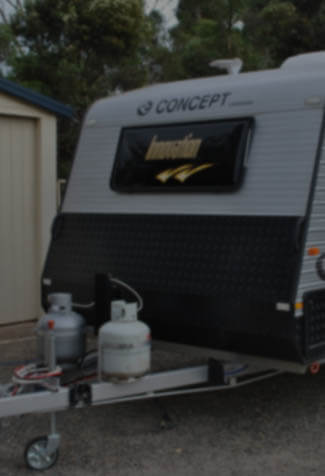 A Concept caravan is being parked